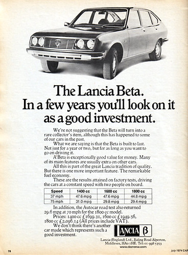 Lancia Beta Advert