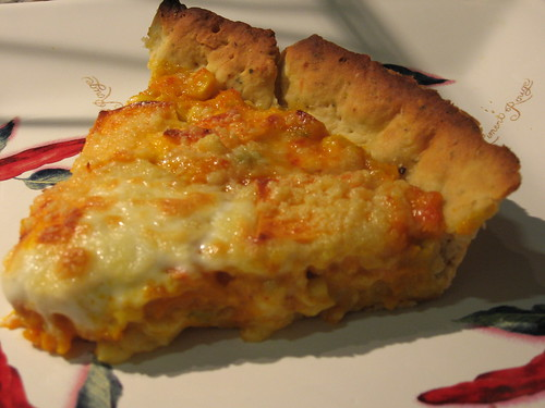 pumpkin, corn and cheese pie