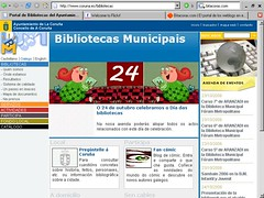 web bibliotecas coruña