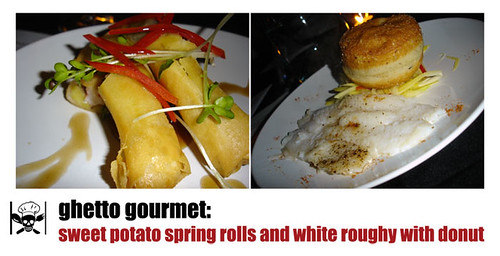 Ghetto Gourmet - Spring rolls and donut