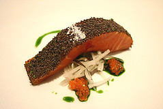 Confit of Petuna Tasmanian Ocean Trout with Konbu, Daikon & Fennel