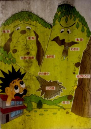 Different Kinds of Landslides in Japan