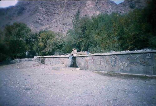 Civil engineering near Warang, Tajikistan / タジキスタン土木工事(ウ゛ァラング村付近)