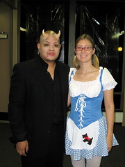 Me and Sarah from Kansas, who, coincidentally, is dressed up as Dorothy from Kansas. photo by EriQ.