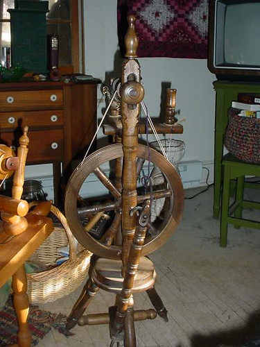 Antique Castle Spinning Wheel