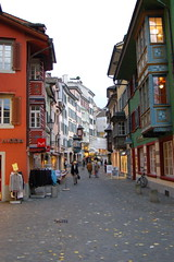 Cobbled narrow streets of Zurich