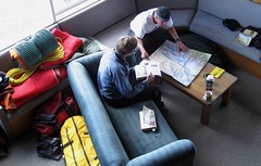 Steve and Andrew study routes