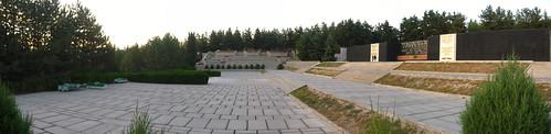 A random deserted square/monument/gathering place in the hills of Dushanbe, Tajikistan / ドウシャンベ市の近くにある広場(タジキスタン)
