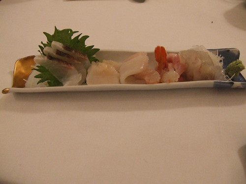 Kiss (San Francisco) - Sashimi Plate - Tai, Giant Clam, Squid, Hamachi, Toro, Sweet Shrimp