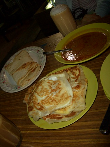 Roti Prata and Paper Prata at Jalan Kayu