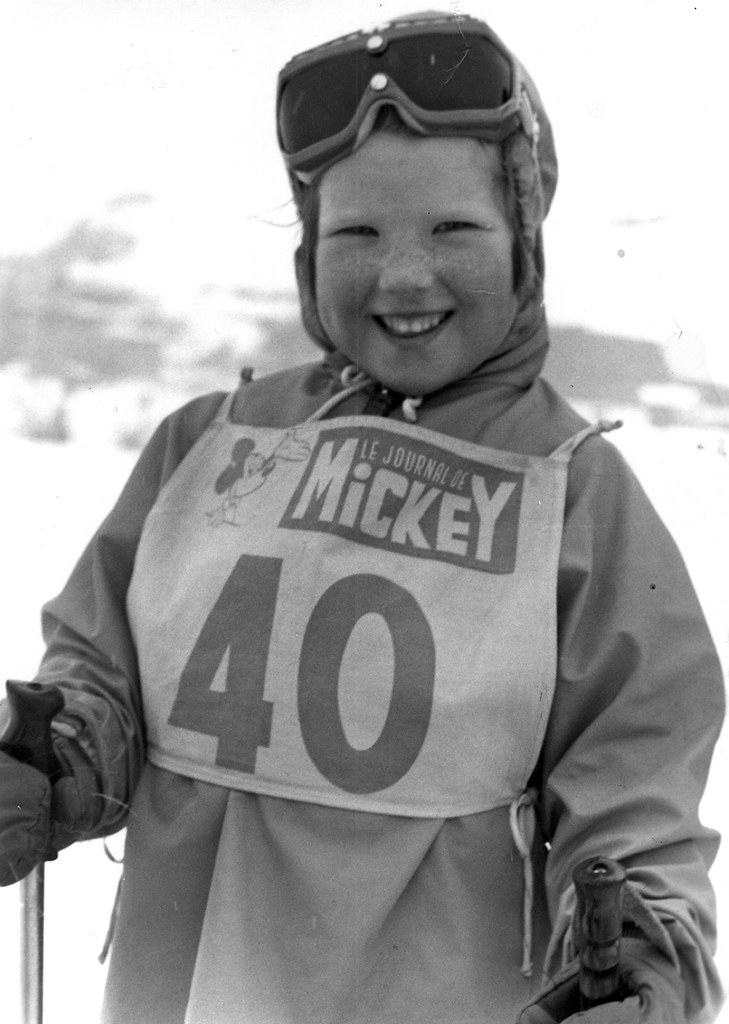 Me at the age of 4 on my first skiing holiday at Les 2 Alpes, France (1973)