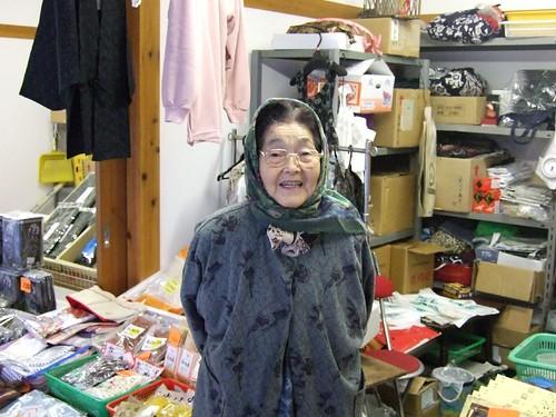 溫海朝市最老的婆婆