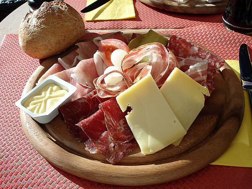 Walliserplatte or Walliserteller (A typical Swiss country lunch)