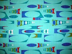 Fabric panel - Turq etc