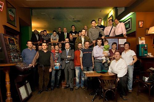 Foto de familia de los asistentes al Bloggellón 4.0