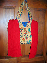 sallee's bag and red scarf