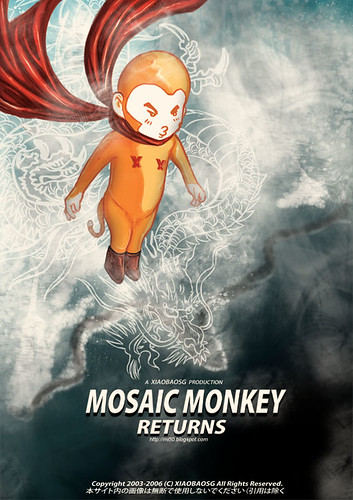 Mosaic Monkey Return 3