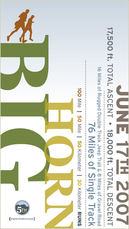 BigHorn 100-Miler Poster