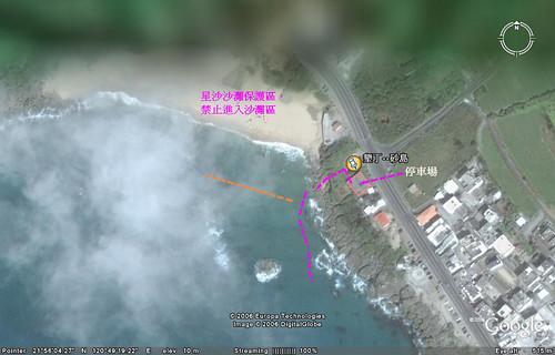 砂島潛點水中路線圖