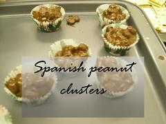 spanish peanut clusters choco dip