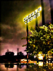 Waffle House: My Beacon in the Night. (watercolor treatment) photo by RichTatum