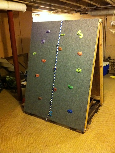 Diy Portable Kid S Climbing Wall