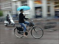 Bikin' in the rain photo by _silent