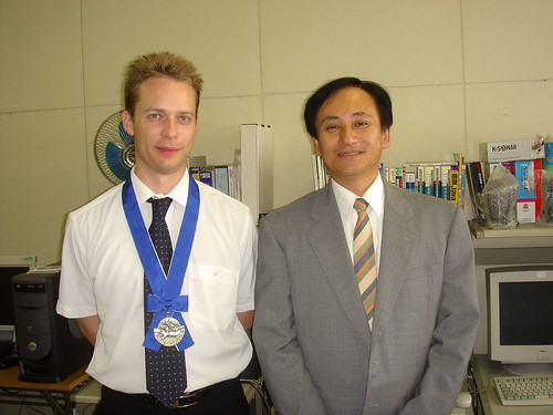 With professor Miyachi