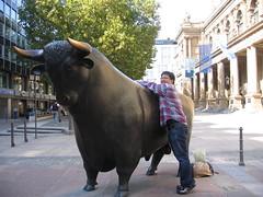 Riding the Frankfurt Bull