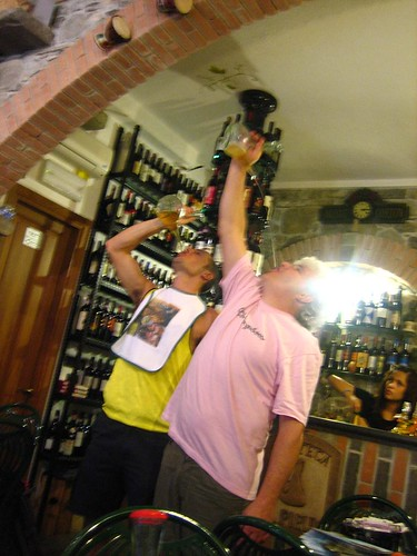 il Pirun's Owner and Friend drink from a pirun