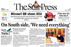 Star Press headline