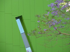 Brisbane Square purple and green