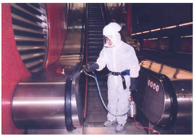 Spraying the MTR