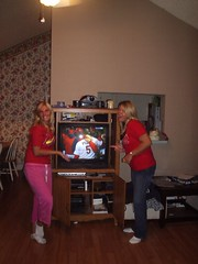 becci & me right after the cardinals WON THE WORLD SERIES!