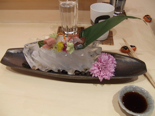 Urasawa (Los Angeles) - Toro, Red Snapper, & Spanish Mackerel sashimi