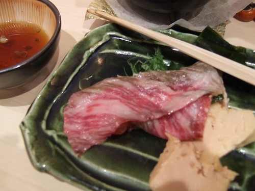 Urasawa (Los Angeles) - Toro, Japanese Beef, & Foie Shabu Shabu