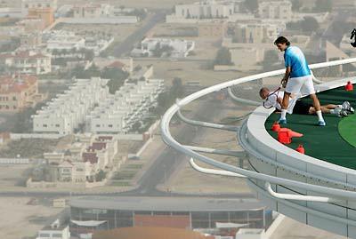 Burj Al Arab Tennis Agassi