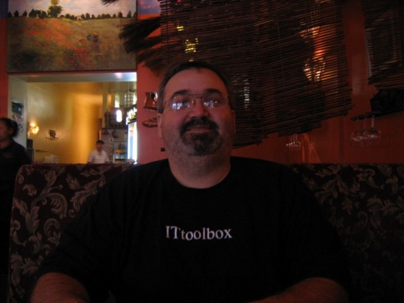 Me at the San Francisco restaurant, Persimmons