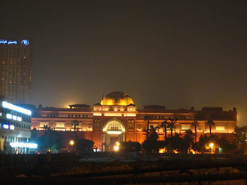 Egyptian Museum by night