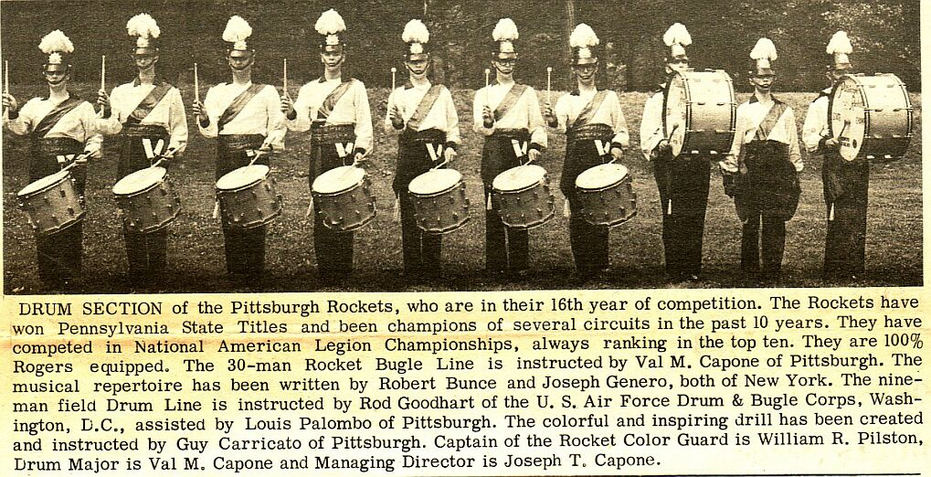 a history of drum corps