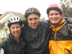 Jane, Mike and Nick at the end of the GongRide 2006