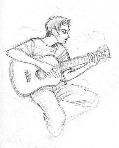 Boy With Guitar Drawing Of A Boy Playing The Guitar | Auto ... Boy With Guitar Drawing