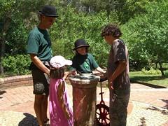Akael shows us the sundial at Lorien Novalis
