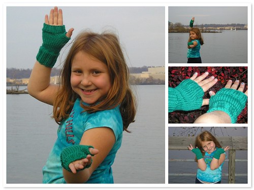 D with Green Gloves