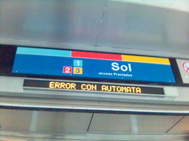 Error en Metro de Madrid
