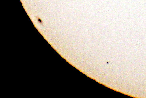 Mercury transit - detail