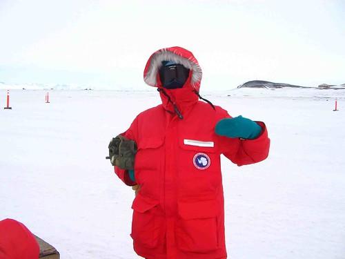 Tina in antarctica