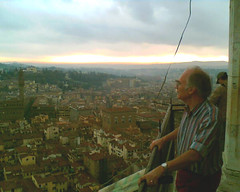My old man on top of the dome
