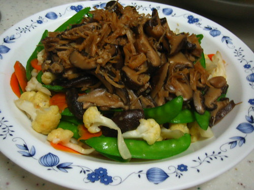 Mixed Vegetables With Mushroom Scallop Sauce