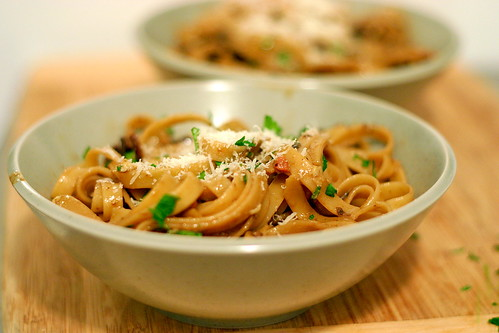 fettuccine with porcini